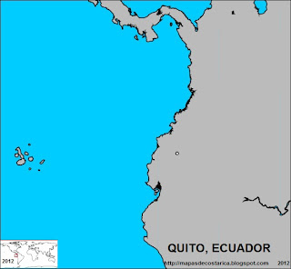 Mapa de QUITO, capital de ECUADOR