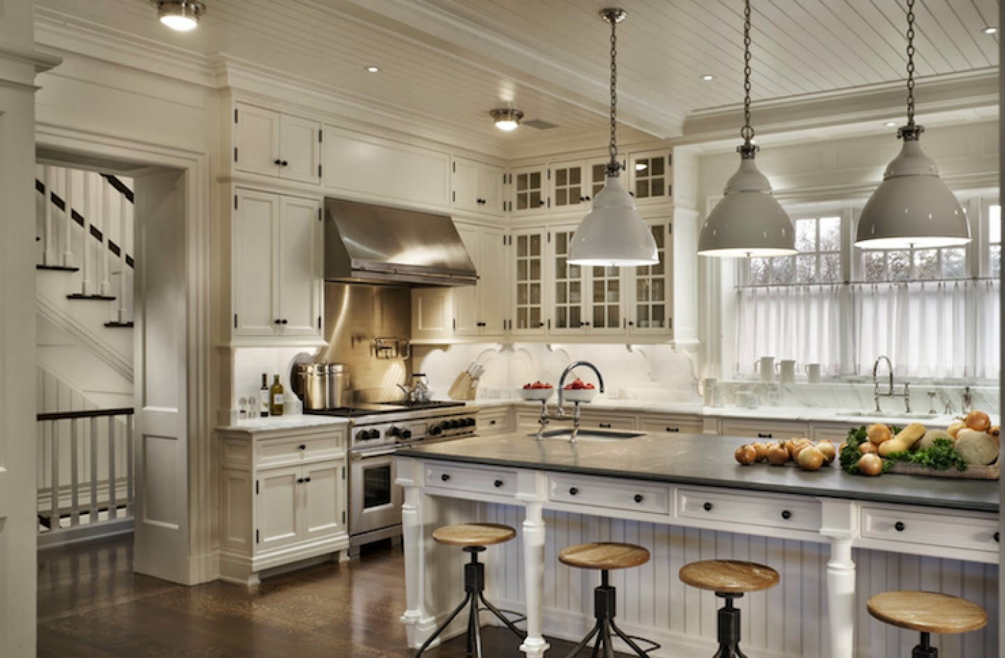 South Shore Decorating Blog: Beauftiful White Kitchens: Always in ...