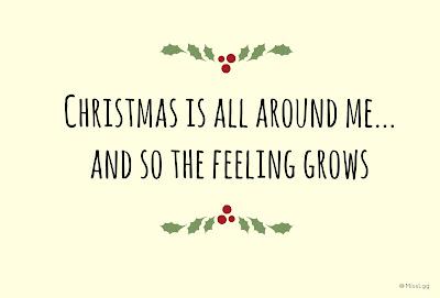 Christmas is all around me and so the feeling grows... Love actually! Feliz Navidad!