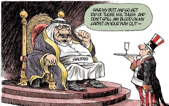 Image result for SAUDI KING CARTOON