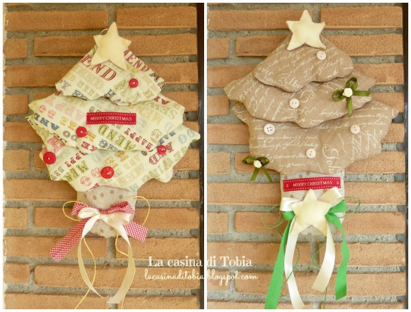alberello fuoiporta natalizio