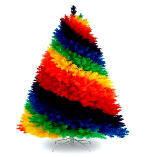 Decora y disena rboles de navidad artificiales en colores - Como decorar arboles de navidad color blanco ...