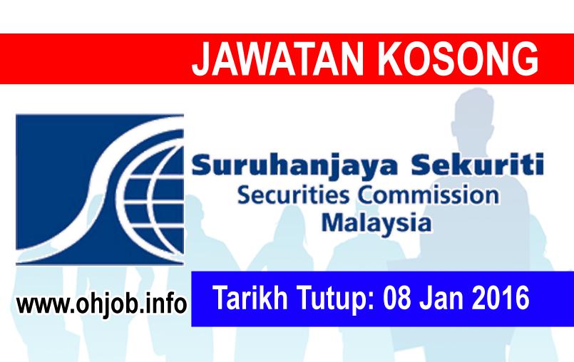 Jawatan Kerja Kosong Suruhanjaya Sekuriti Malaysia (SC) logo www.ohjob.info januari 2016