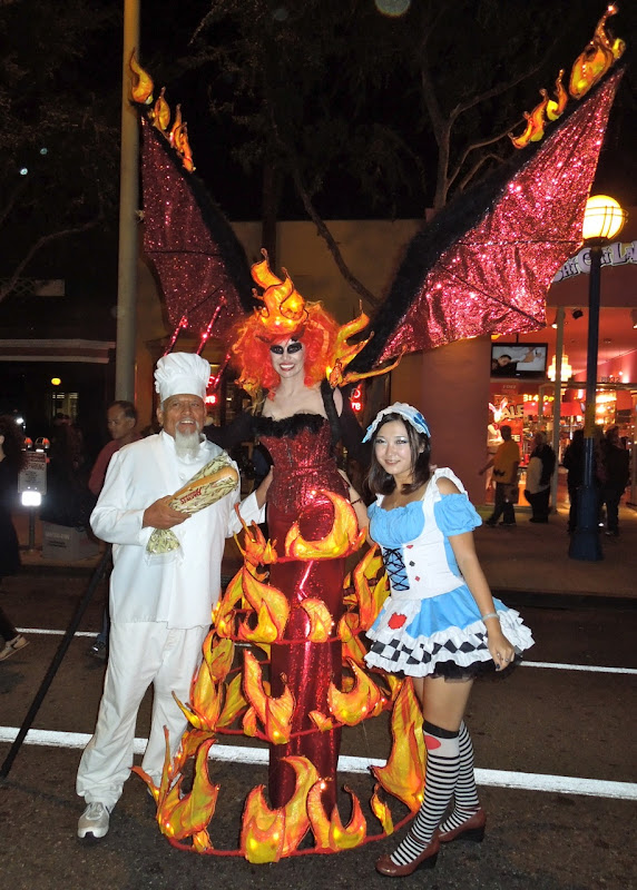 West Hollywood Halloween Carnaval flame costume