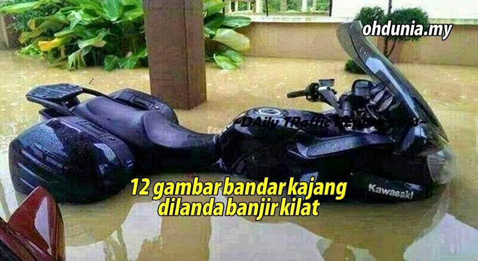 Dua Belas Gambar Bandar Kajang Dilanda Banjir Kilat Petang Tadi !..