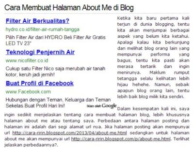 Cara Memasang Iklan di Bawah Judul Postingan Blog