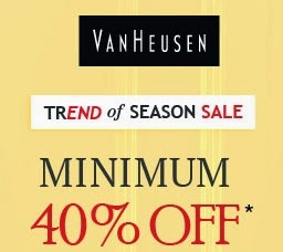 Flat 40% Off on Van Heusen Clothing & Accessories for Men & Women