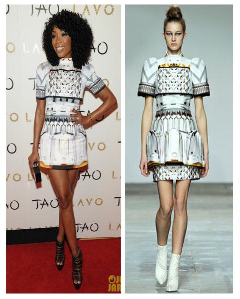 a filha do chefe brandy ano novo vestido geométrico 3D