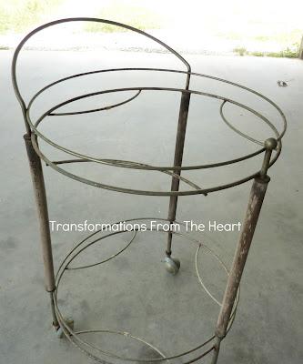 vintage serving cart redo