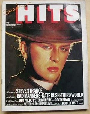 Steve Strange on the cover of Smash Hits in July 1981