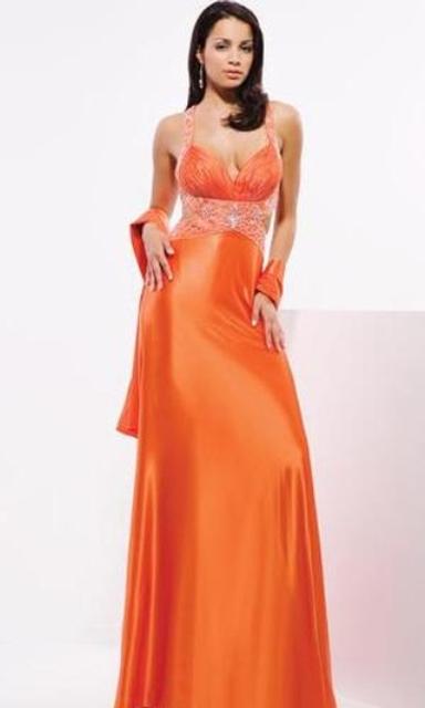 Vestidos largos de fiesta naranja