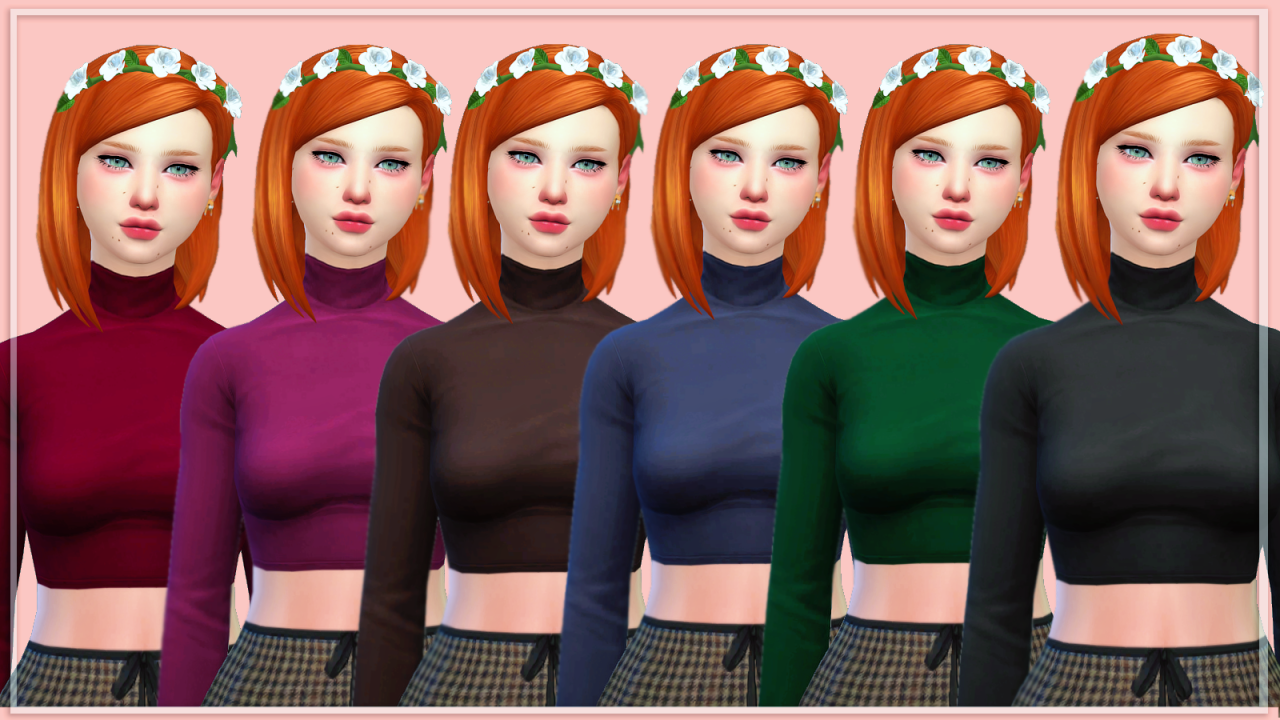 Sims 4 Turtleneck Long Sleeve Dress Ivo Hoogveld