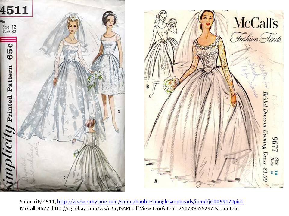 Pintucks royal wedding gown vintage inspirations for Wedding dress patterns vintage