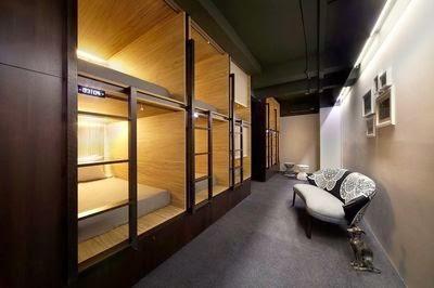 Hotel Pod Singapore, chambres dortoirs
