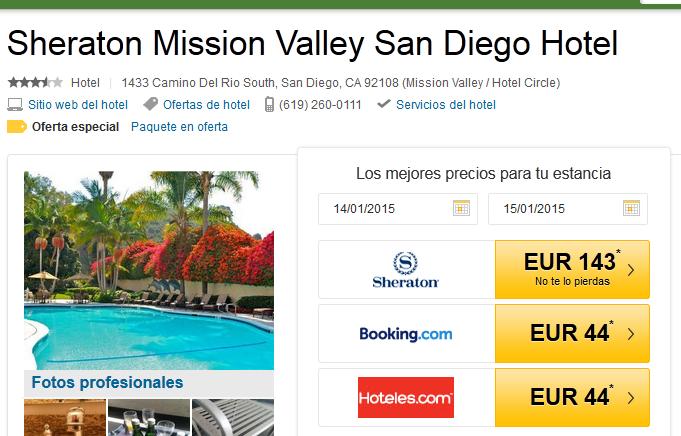 Sheraton Mission San Diego error fare
