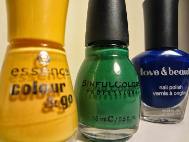 Jewel Tone Nail Polishes: Topaz, Emerald, Sapphire