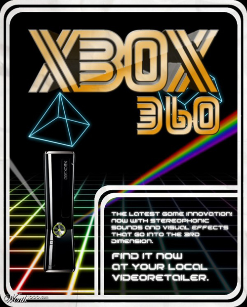 anúncios vintage - produtos modernos - XBox 360