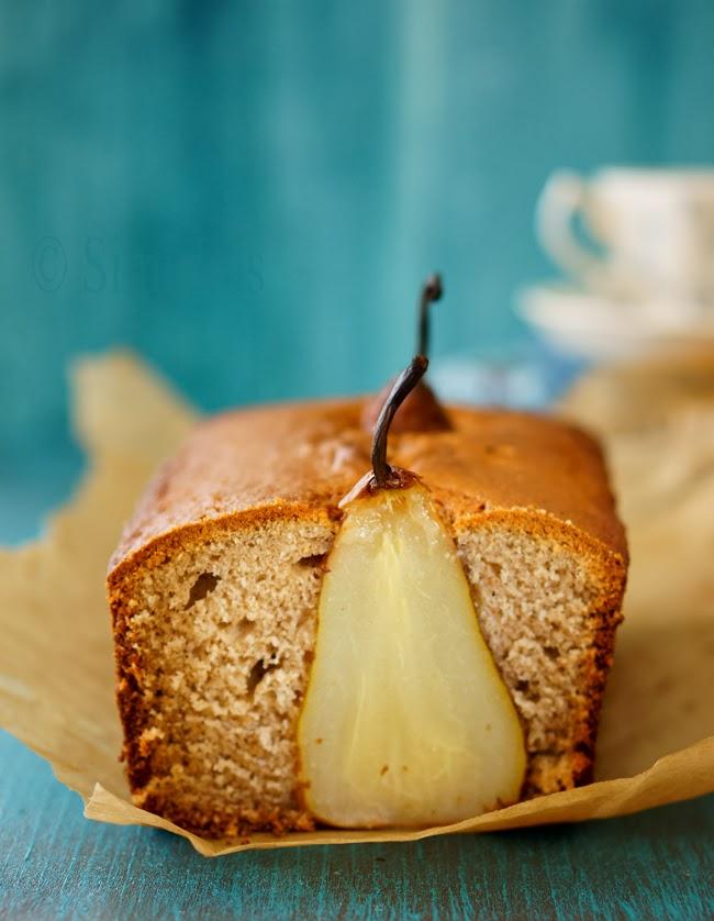 pear cake, fruit cake, easy cake, nutmeg cake, recipe, dessert