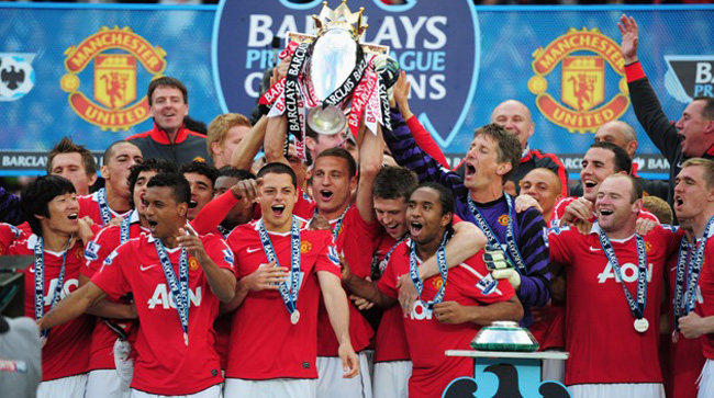 MANCHESTER UNITED LEAGUE WINNERS - 2011