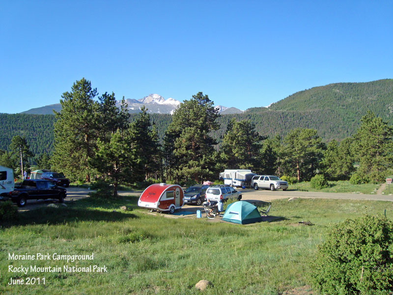 T b camping moraine park rocky mountain national park for Rocky mountain state park cabins