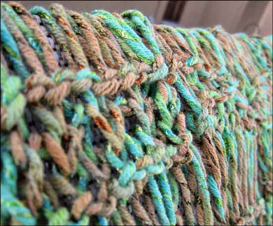 Knitting Summer Scarves : Altered scrapbooking spring or summer scarf