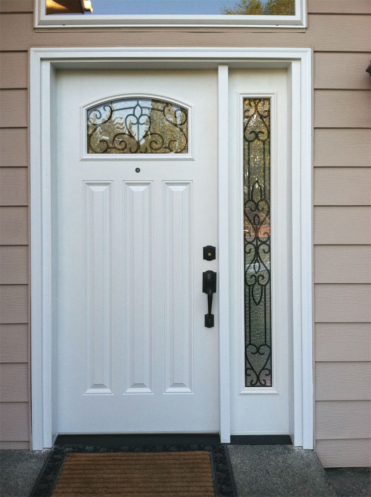 In real life torino exterior door sidelite for Exterior entry doors