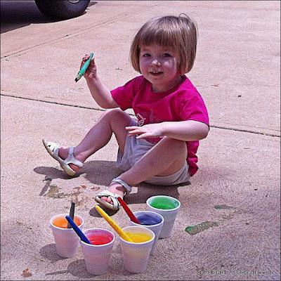 Craftiments.com:  Sidewalk Paint