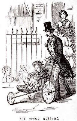 John Leech Sketch from Punch. The Docile Husband