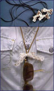 cuerdas para colgar las gafas-
