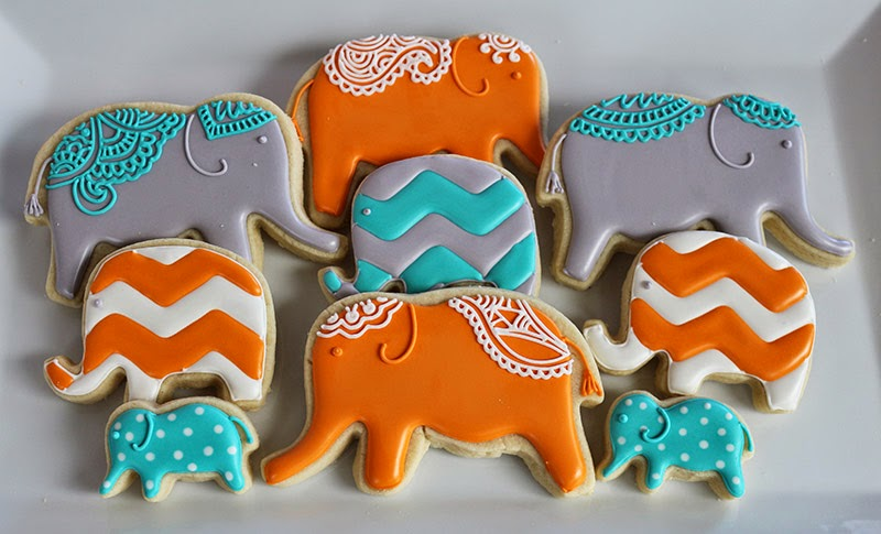 elephant cookies for baby shower choice image