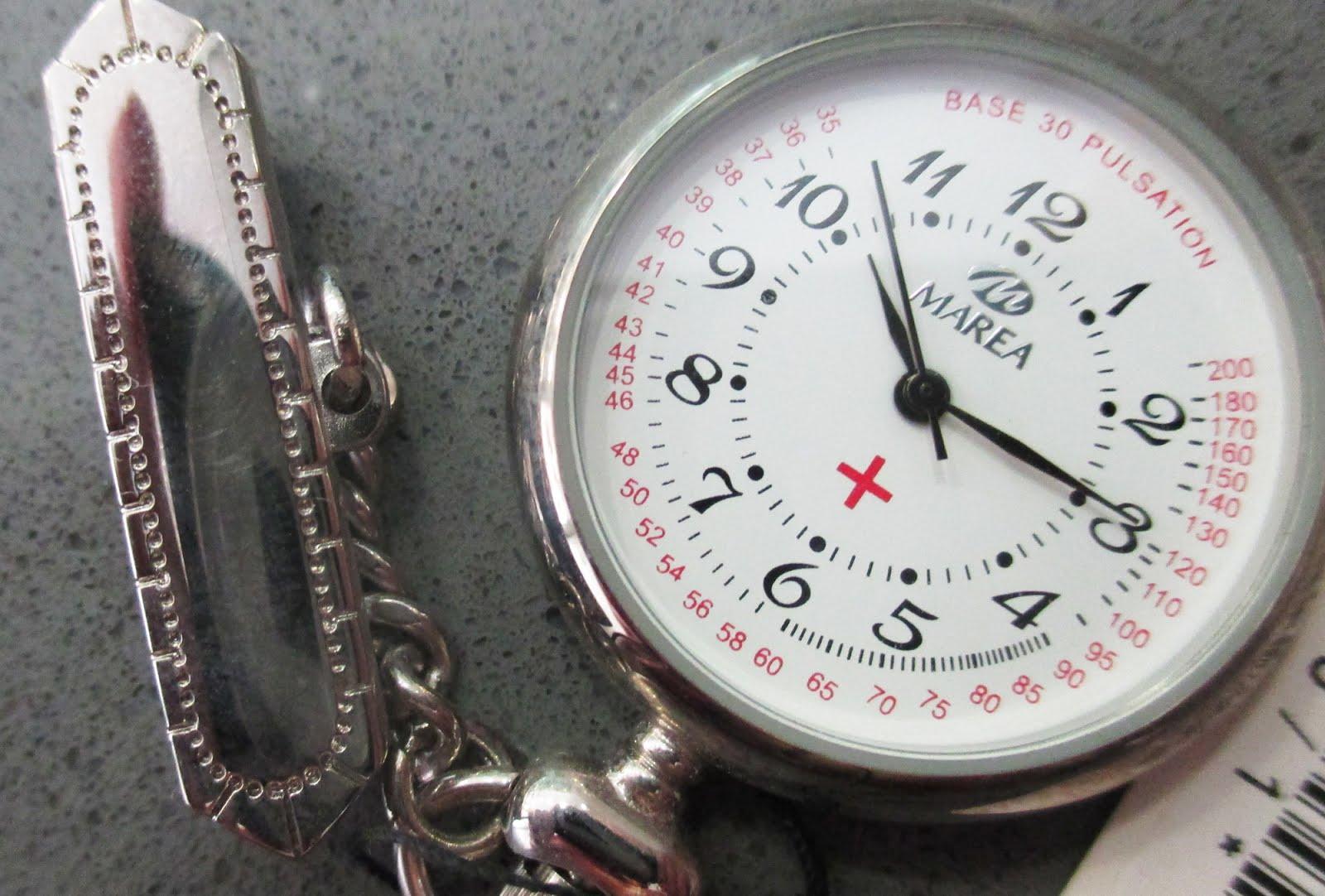 Reloj de enfermera, para atar en blusa