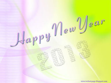 2013 new year wallpaper in pink and yellow color