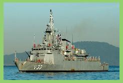 """Baja de la corbeta """"Frontin"""" en la Marina brasileña"""