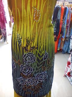 Batik Sutera Crepe Tampal lalang 2