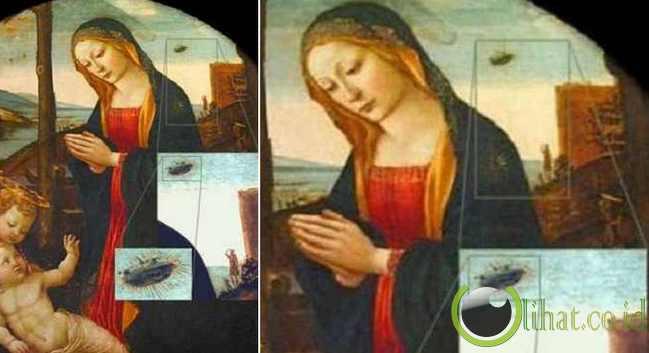 "Penampakan UFO dalam ""Madonna with Saint Giovannino"""