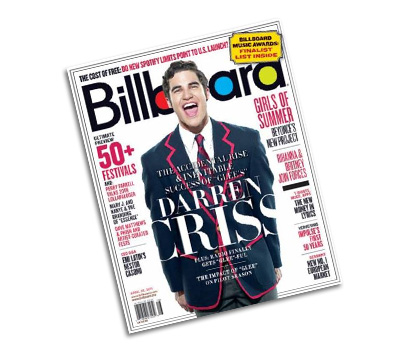 Darren Criss signed Billboard Magazine