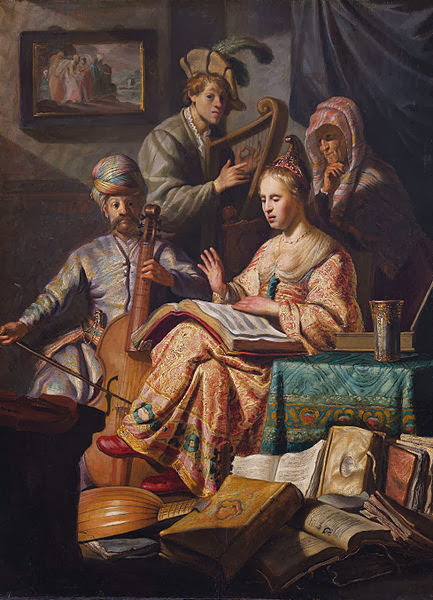 """Picture of """"The Music Party"""" by Rembrandt, 1626"""