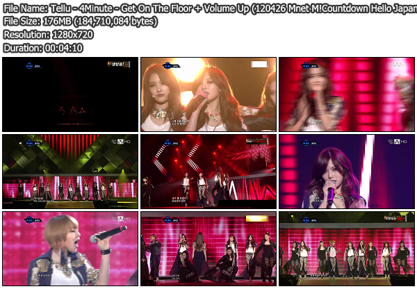 [Perf] 4Minute   Get On The Floor @ Mnet M!Countdown Hello Japan 120426