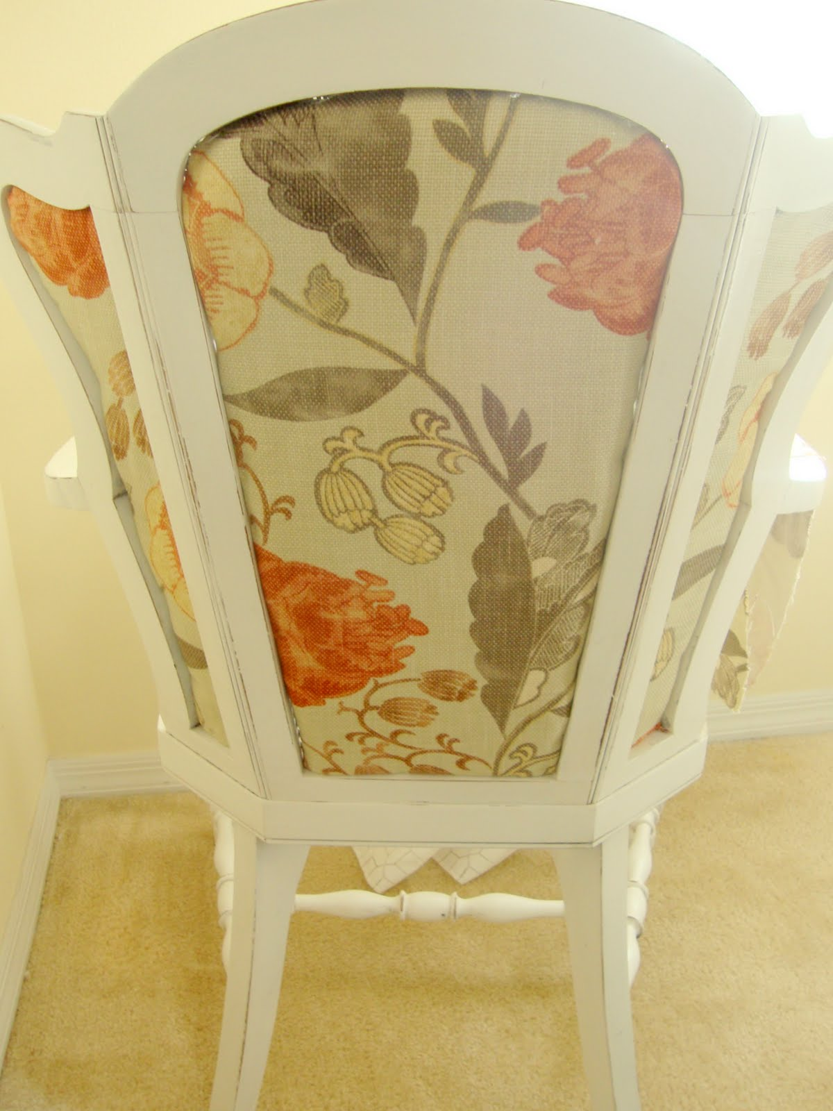 How to Upholster Over a Cane Back Chair & Sugar and Spackle: How to Upholster Over a Cane Back Chair
