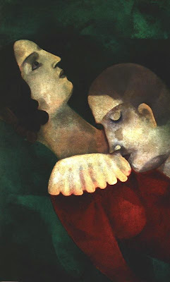 Amants en verd (Marc Chagall)