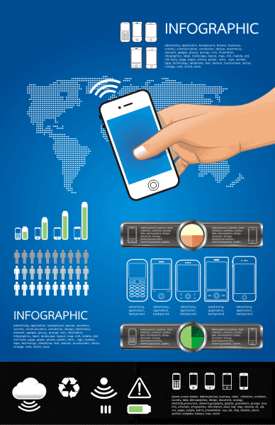 Cell Service Infographic cdr vector