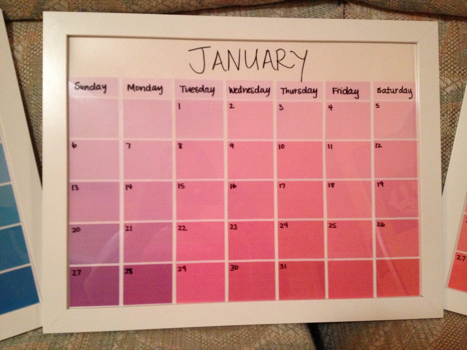 Diy Paint Strip Calendar : Kimber s great adventure days of christmas day five