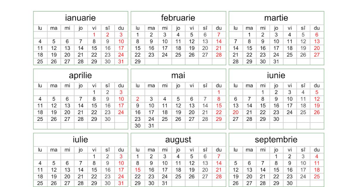 Calendar 2016 pentru printat - imagine + PDF | Softulescu