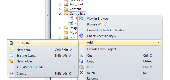 how to create web api controller in mvc 4