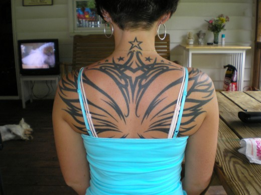 tattoo design for girls back