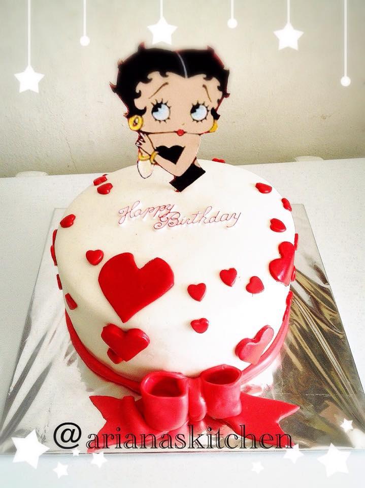 Betty Boop Baby Shower Cake