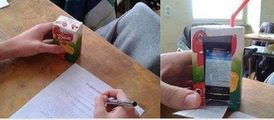 Beber jugo durante un examen es lo mejor