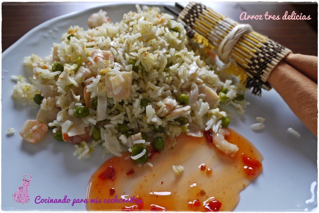 Arroz tres delicias cocinando para mis cachorritos for Cocinar arroz 3 delicias
