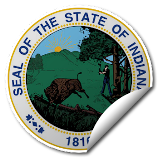 Sticker of Indiana Seal