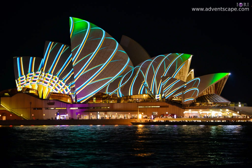Philip Avellana, Australian Landscape Photographer, Vivid Sydney, Event, CBD, NSW, New South Wales, Australia, lighting, long exposure, 2013, light pattern, Sydney Opera House, spring design